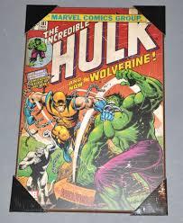 marvel comics hulk 181 wall art print on