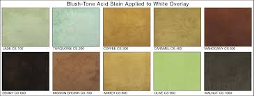 Brickform Acid Stain Color Chart Blush Tone Acid Stain Muller Construction Supply