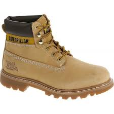 caterpillar colorado mens honey tan suede leather upper lace up ankle boots