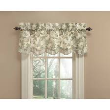 waverly spring bling 18 in platinum cotton back tab valance