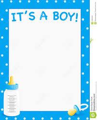 baby shower invitation blank templates baby shower invite boys stock vector illustration of invite