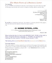 Formal Business Letter Example 7 Samples In Word Pdf