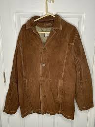 details about wilsons leather vintage m julian suede leather tan brown jacket coat men s xl