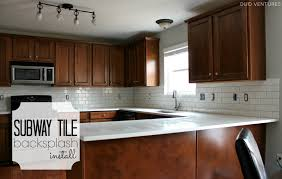 Re Tile Kitchen Floor Duo Ventures Kitchen Makeover Subway Tile Backsplash Installation