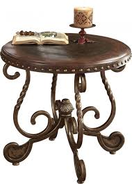 picture of alandra round end table