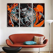 panel abstract wolverine xmen framed wall canvas art  octo