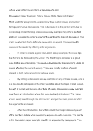 discussion essay example follow simple hints make life  discussion essay example follow simple hints make life easier