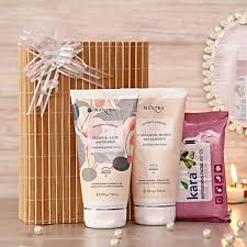 mantra pure ayurvedic facecare essentials and kara wipes her in a gift box