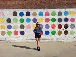 polka dots wall at 608 mateo street los angeles ca 90021 matty mo the most famous artist on most famous wall artist with polka dots wall at 608 mateo street los angeles ca 90021 matty