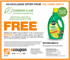 here to print your the home depot garden club savings