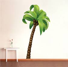 palm tree wall stickers: palm tree wall mural decal palm tree wall decal murals a