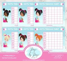 Girls Potty Training Chart Letter Size Instant Download