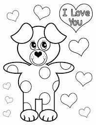 i love u coloring page 4