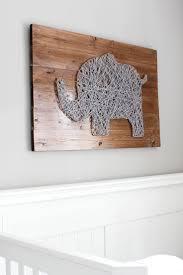 diy nursery string art tutorial elephant roomelephant nail artbaby nurserybaby boy decor ideas crafts on baby grey 15 room projects