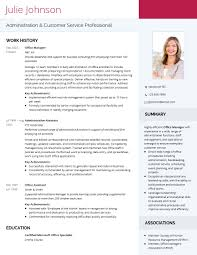 Modern Professional Cv Template Visualcv