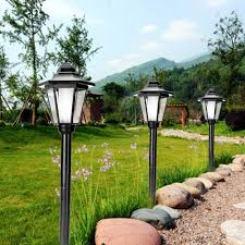 Garden Led Spot Lights Automatic Sensor Waterproof Solar Power Lawn Lamps Led Spot