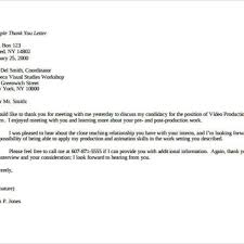 Letter After Second Interview Cover Letter Example