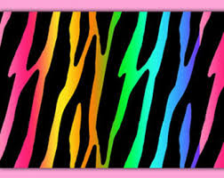 Captivating RAINBOW ZEBRA WALLPAPER Border Wall Decal Safari Animal Print Room Baby  Nursery Kids Jungle Bedroom Childrens Multi Color Art Sticker Decor
