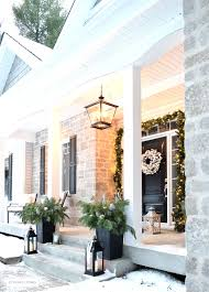 elegant front porch chandelier pendant light with citrineliving outdoor decor and new lighting lantern flocked wreath on traditional