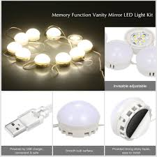 makeup mirror bulbs 10 led vanity mirror lights kit with dimmable light bulbs lighting fixture strip for dressing room usb port salon mirrors small mirror