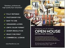 Free Open House Flyer Template Arianet Co