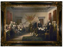 the signing of the declaration of independence by john trumbull framed painting print