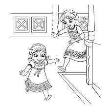 Leuk Voor Kids Elsa En Anna Als Kleine Meisjes