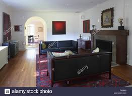 New England Living Room View To Entrance Hall And Dining Room From Living Room New