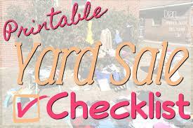 Printable Garage Sale Checklist