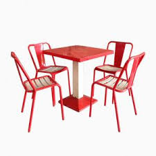 xavier pauchard french industrial dining room furniture. industrial red u0026 white dining set by xavier pauchard for tolix 1950s french room furniture