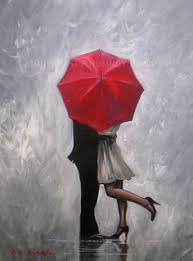 painting metal art picture more detailed picture about handmade modern abstract wall decor fine art acrylic oil painting perfect love red umbrella hand  on red umbrella metal wall art with pete rumney art a moment in the rain painting red umbrella classy