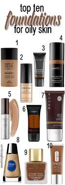 top ten foundations for oily skin beingmelody beingmelody