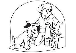 Kleurplaat Huisdieren Hond En Kat Afb 7096 Images