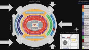 madison square garden seat map msg official site