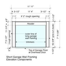 how to frame a garage doorGarage Wall Framing