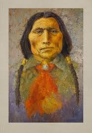 wolf robe native americans american indians portraits oil paintings mark kashino