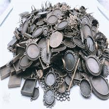 saan bibili 2018jingyang 10pcs bronze antique silver zinc alloy pendant setting blank jewelry accessor base settingnecklace jewelry making presyo ng