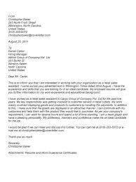 Cover Letter Examples For Retail Sales Associate Cover Letter