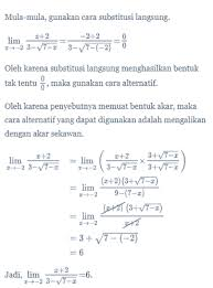 Limit tak hingga akar, the ultimate lists of awesome free elearning ebooks. Limit Fungsi Aljabar Matematika Kelas 11 Quipper Blog