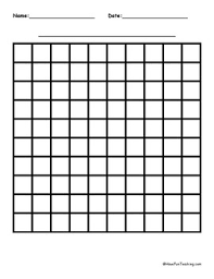 10 By 10 Blank Graph Paper By Have Fun Teaching Tpt