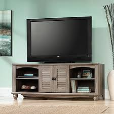 Sauder Tv Cabinet Sauder Harbor View Salt Oak Entertainment Center 415055 The Home
