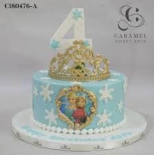 Frozen Themed Cake Custom Cakes Cakes And Desserts