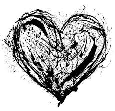 black heart background. Wonderful Black Abstract Valentine Black Heart On White Background Stock Photo  12069525 Throughout Black Heart Background A