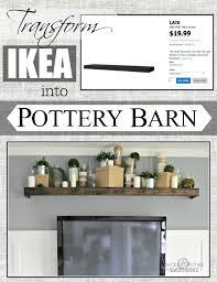 Floating Shelves Pottery Barn Remodelaholic Turn an Ikea shelf into a Pottery Barn Ledge 47