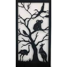 birds metal wall hanging art