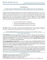 sample financial controller resume sample resume financial controller  position