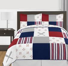 red and white bedding. Exellent Red Red White And Blue Baseball Patch Sports Boy Full  Queen Kid Teen Bedding  Comforter Inside Red And I