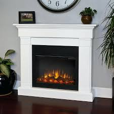 full image for real flame white wood wall mount electric fireplace castlecreek stone heater stacked