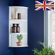 3 tier wall mounted corner shelf