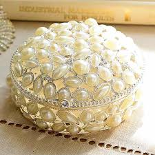 Decorative Ring Boxes alloy pearl jewelry box girl decorative jewelry gift boxes for 20